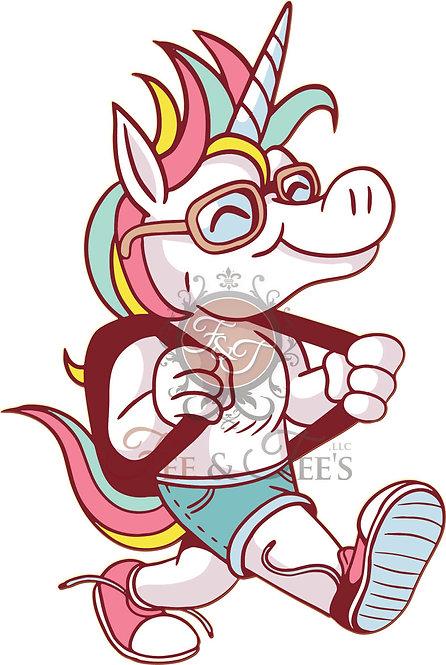 Full Color: Back to School Unicorn