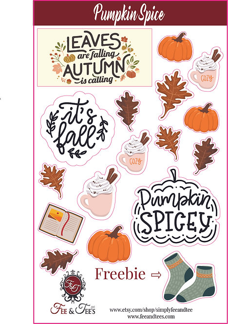 Fall Illustration Stickers