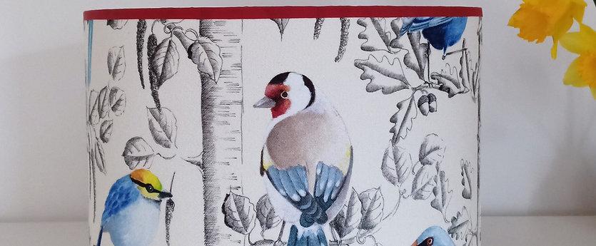 Céleste - Oiseaux sur décor gris