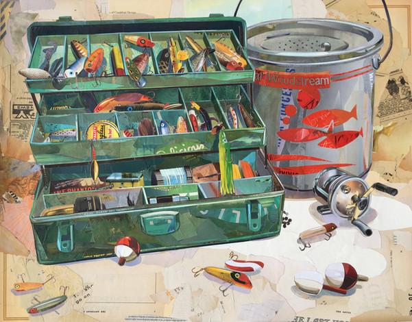 """Tackle Box / Minnow Bucket""  2017"