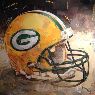 """""""Helmet In Green/Gold""""   2017"""