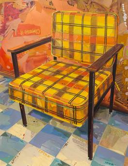 """""""Armchair In Golden Orange Plaid""""  2019"""