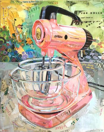 """Sunbeam Mixmaster In Pink""   2019"