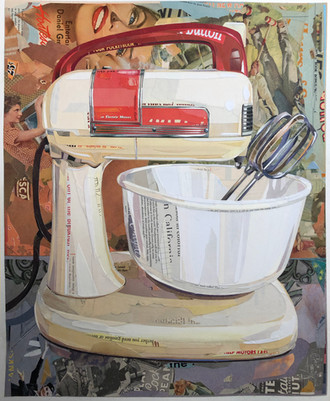 """""""Mixer #3 - Universal Mixer in Cream and Red"""""""""""