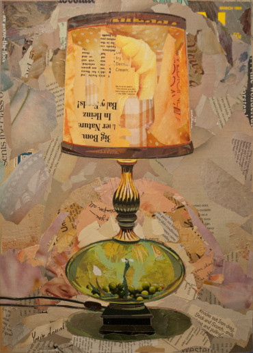 """Glass-Bottomed Table Lamp""   2015"