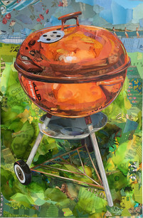 """""""Weber Grill in Chocolate and Rust""""  2019"""