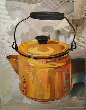 """Kettle #1 - Yellow Stovetop""  2017"