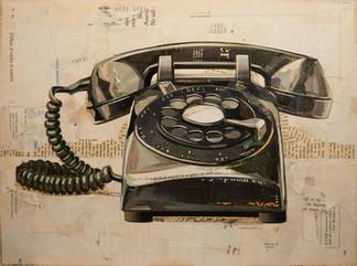 """""""Rotary Telephone In Black""""  2016"""