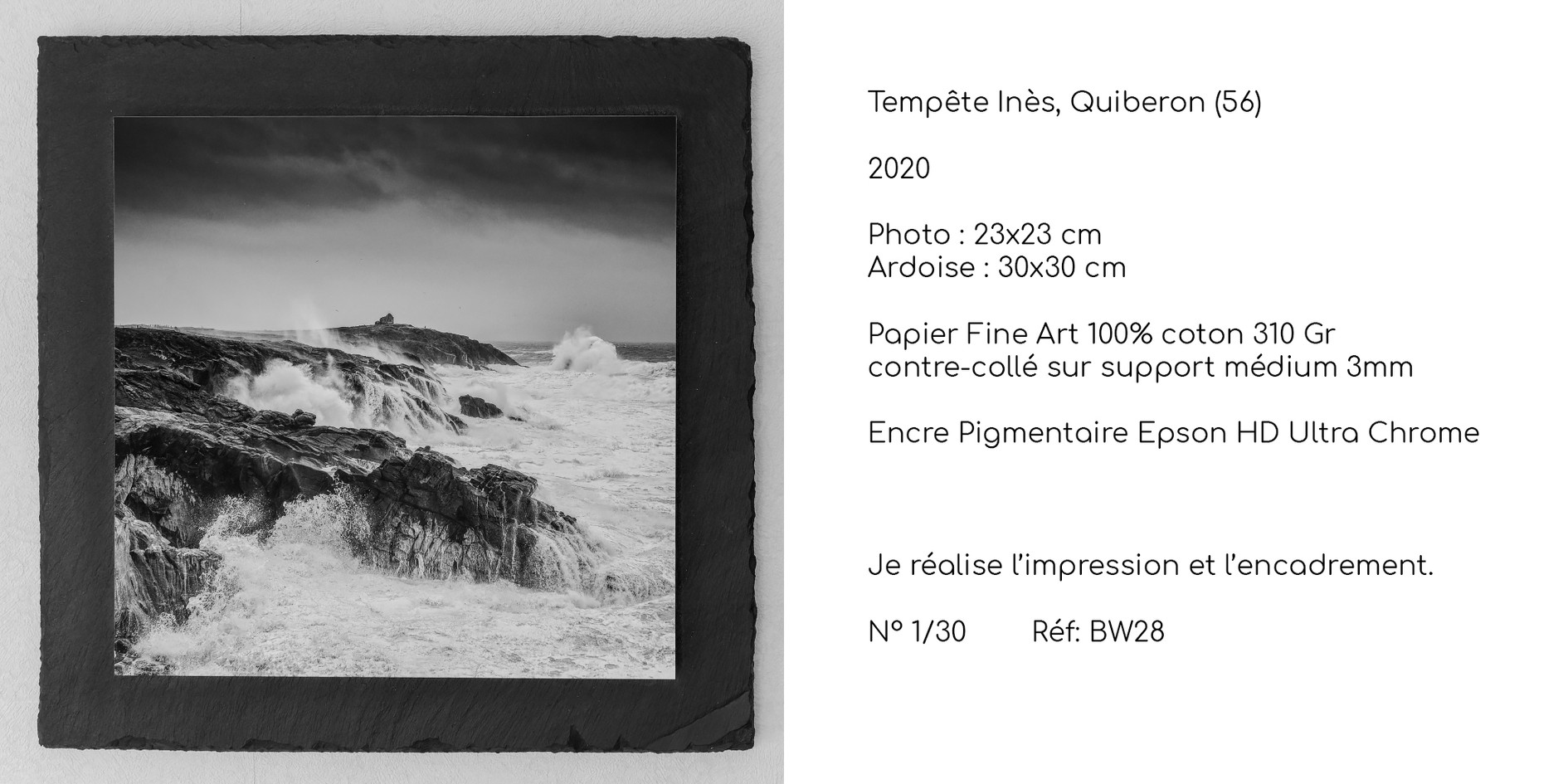 Tempête Inès, Quiberon (56)