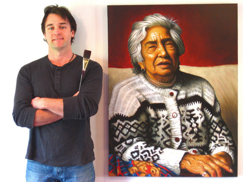 Dwayne Cameron and Geneva Mary Rewiri. 2010. Oil on canvas.