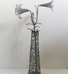 Lilies in a Tall Vase
