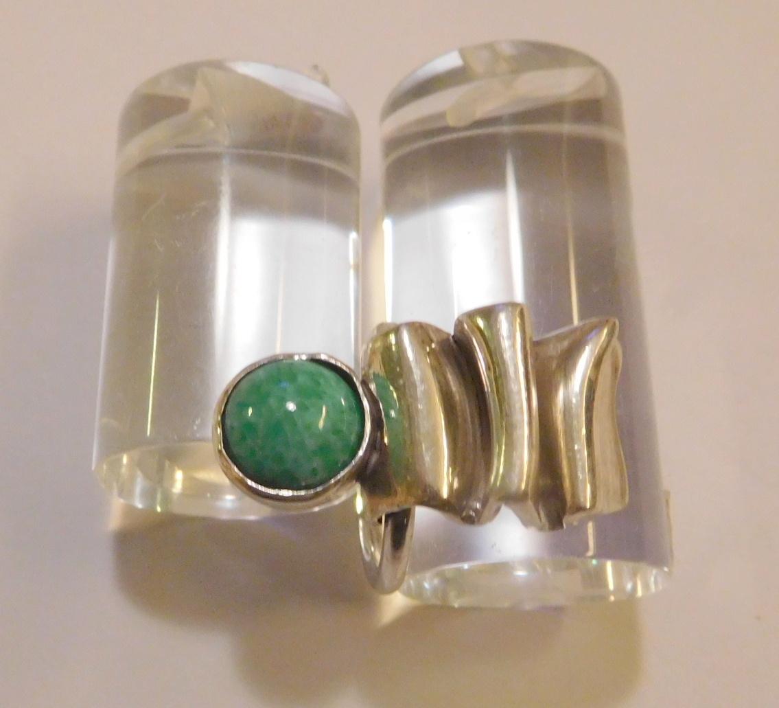 Ring, zilver en amazoniet