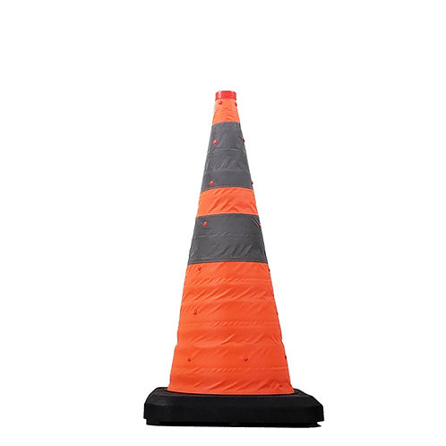 28″ Collapsible Traffic Cone With Light