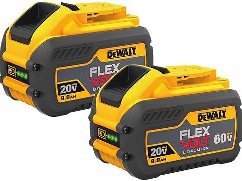 Dewalt 60v  9AMP Flexvolt Battery 2 Pack