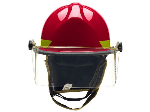 Bullard Thermoplastic structural fire helmet with faceshield