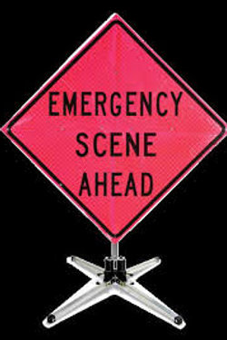 """Emergency Scene Ahead - 36"""" (Pink) ( Stand sold separately)"""