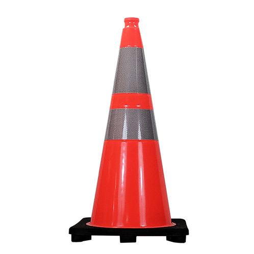 28″ Traffic Cone HI Collars 7 Lb