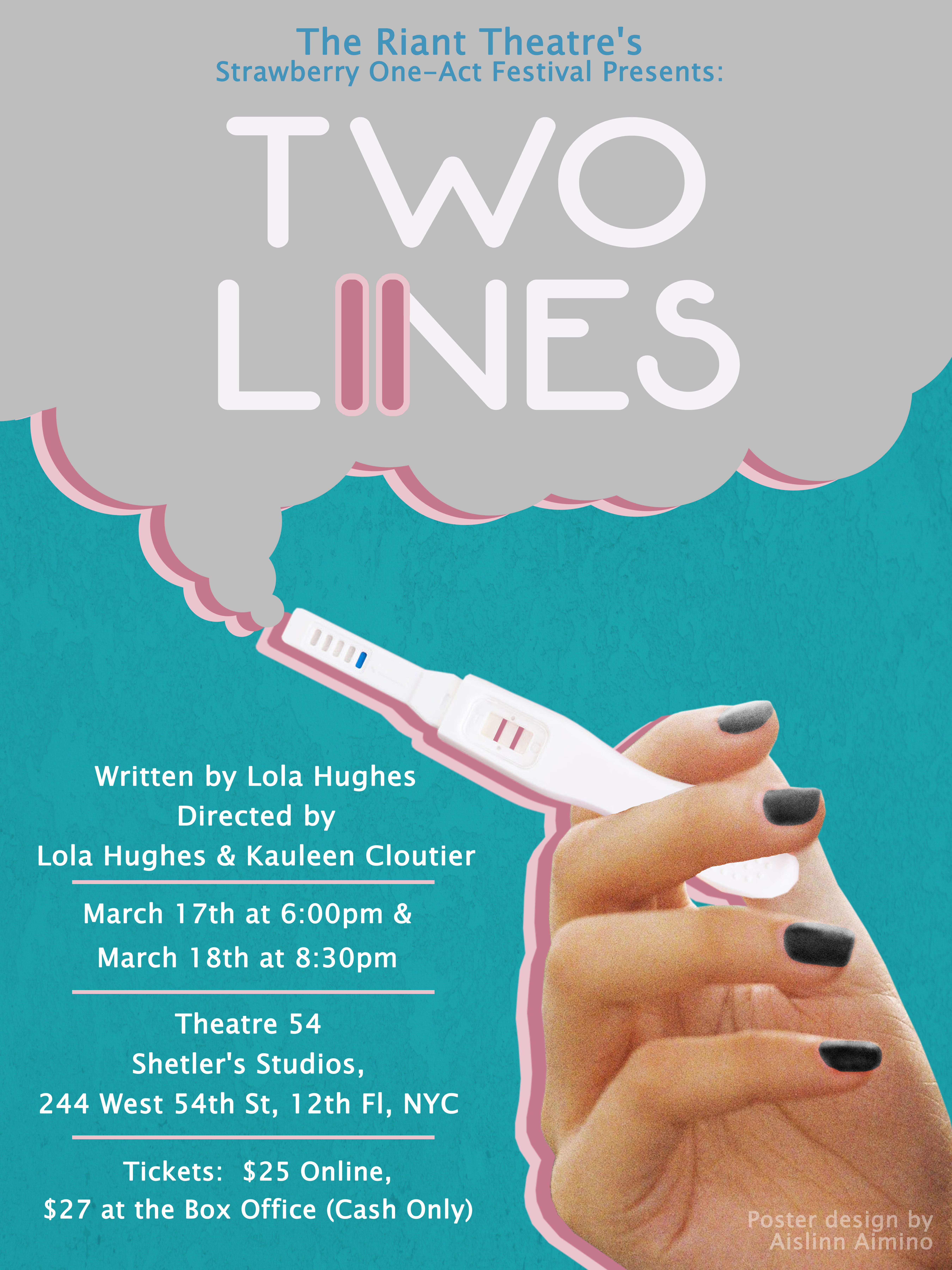 Two Lines NYC Poster