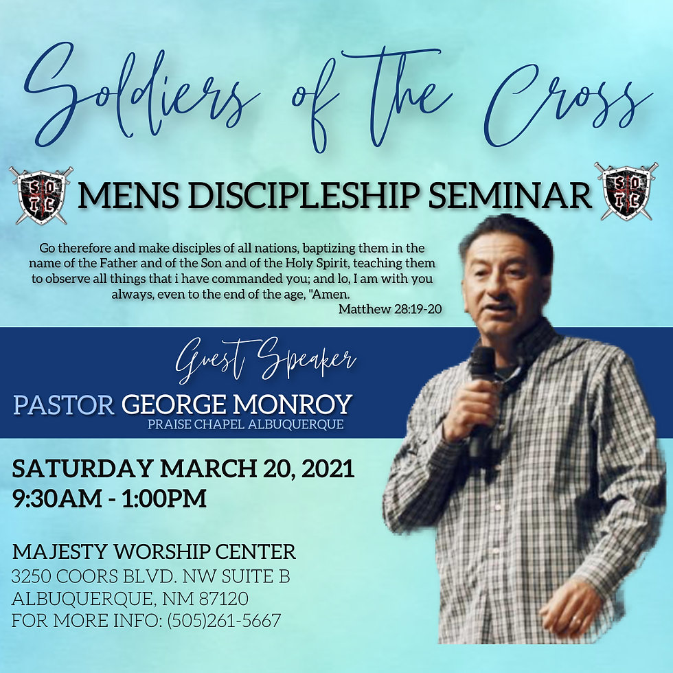 CHURCH MENS SEMINAR CONFERENCE EVENT - M