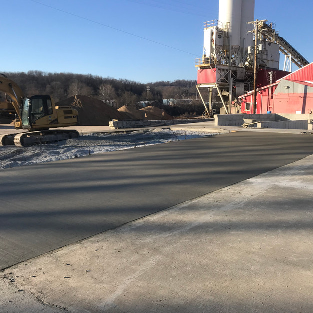 New Washout Pits for Concrete Plant