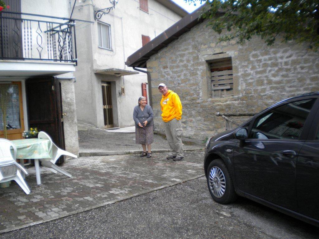 Jack visiting with Family in Montegallo
