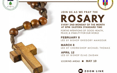Monthly Rosary for the Eparchy Feb May 2