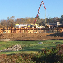 Concrete wall and building Foundation wall for Dollar General