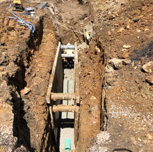 Main Line Sanitary Sewer Work