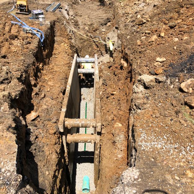 Main Line Sanitary Sewer Work