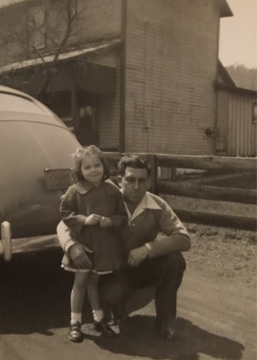 Pat Caporella Filak with her Father, John