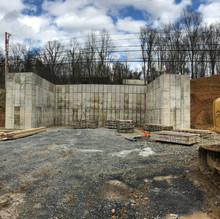 Concrete Foundation Wall for Concrete Plant
