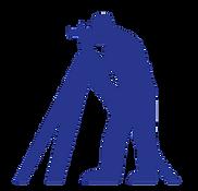 Icon of land surveyor peering through instrument