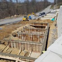 Concrete Foundation Wall for Concrete Plant