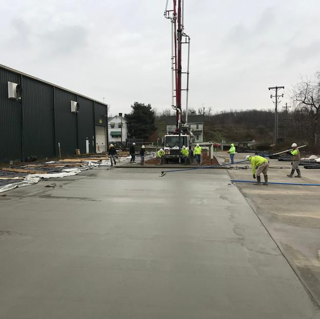 Nelson Steel - Exterior Unloading Pad
