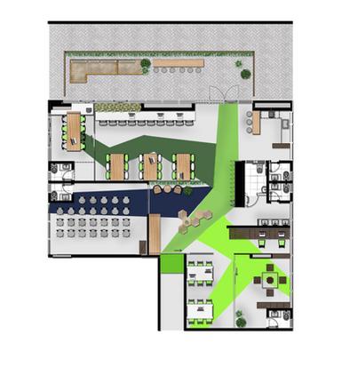 Concreta Interiores - Coworking com exterior