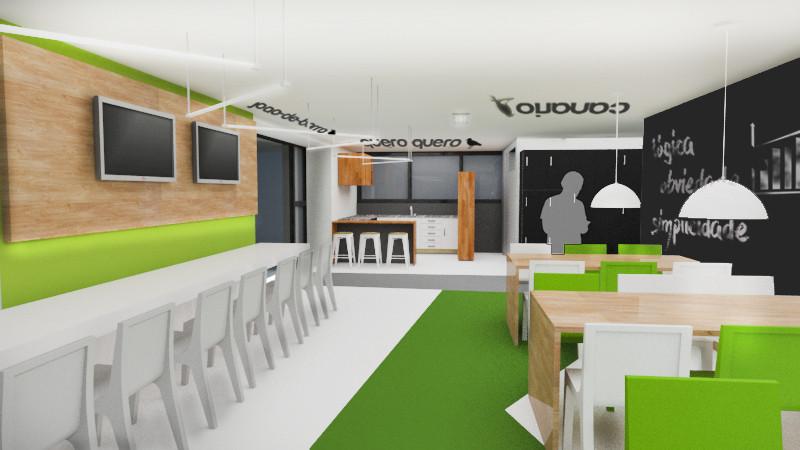 Concreta Interiores - Coworking Perspectiva 2