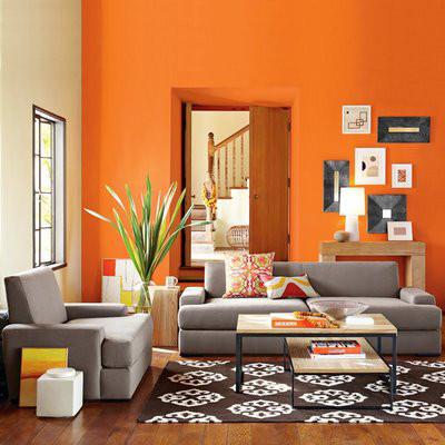 Decoração Interiores com laranja