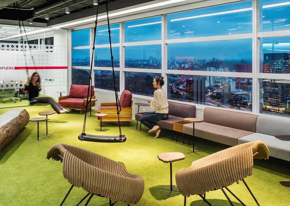 sede Linkedin organização ambiente interiores