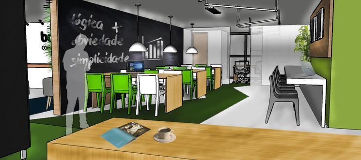 Concreta Interiores - Coworking Perspectiva 1