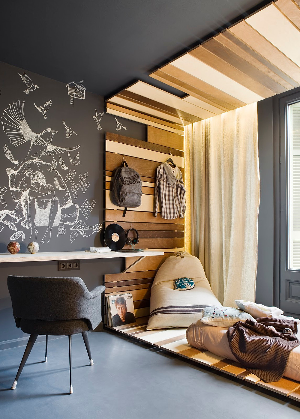 Decoração Interiores com cinza predominante