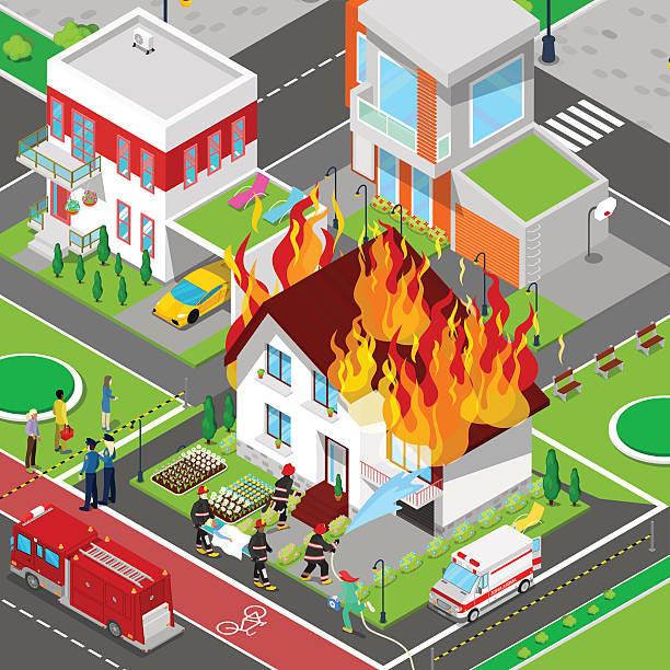 incêndio ilustração