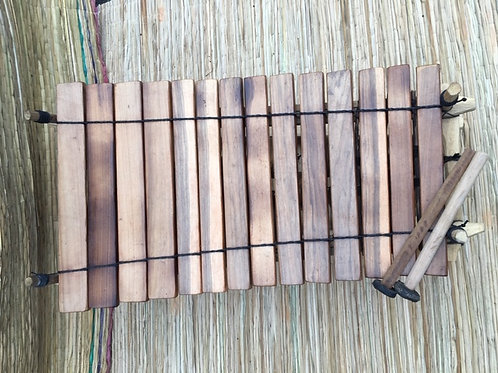 Ghanian Wooden 14 Key Xylophone