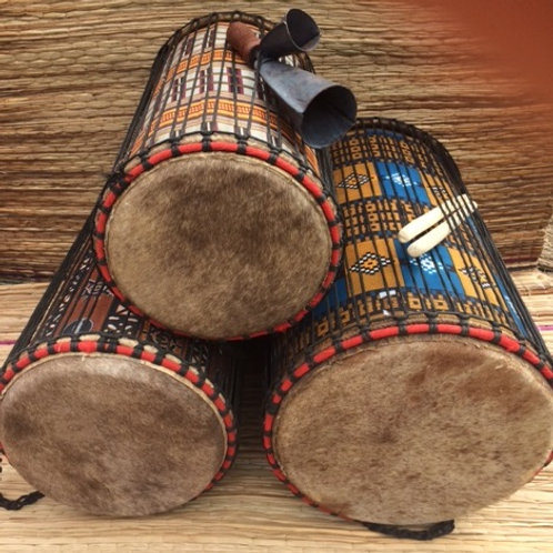 Genuine African Dundun drum set