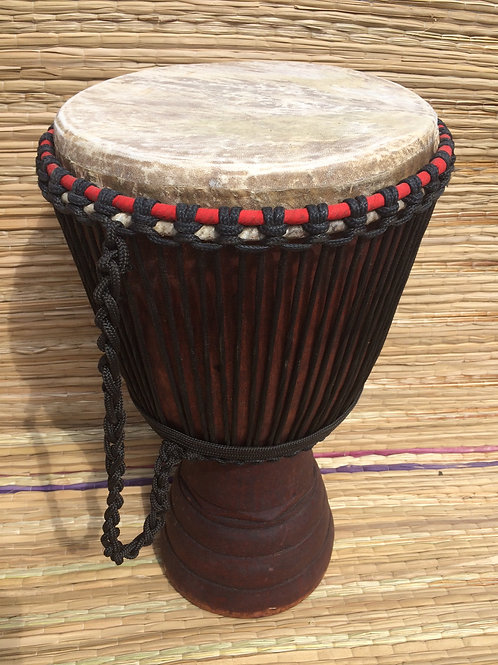"Hardwood African Professional 13"" Djembe drum, with calf skin head."