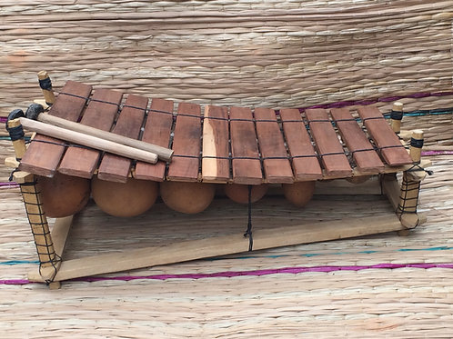 Ghanian Wooden 12 Key Xylophone