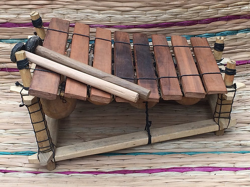 Ghanian Wooden 8 Key Xylophone