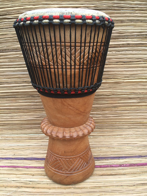 "African Bougarabou Drum - Smooth 12"" Drum Head"
