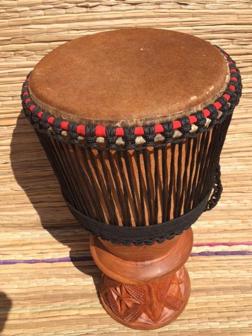 """African Bougarabou Drum - Unshaved 12"""" Drum Head"""
