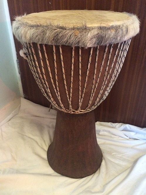 Master drummer Gambian hardwood djembe