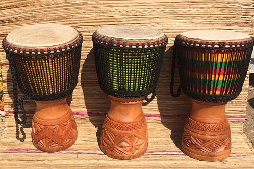 """African Professional 13"""" Djembe drum, with cow skin head."""
